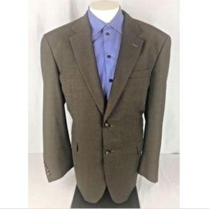 Jos A Bank Mens 46R Brown Wool 2 Button Sport Coat